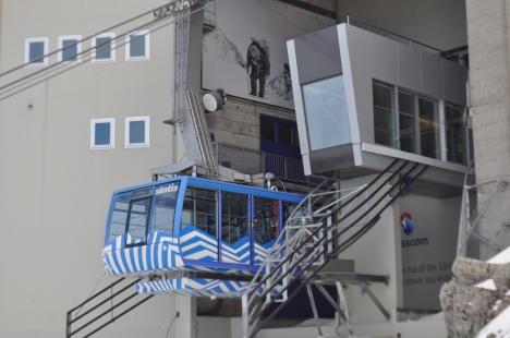 Die neue witterungsgeschützte Bergstation auf dem Säntis.