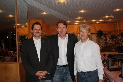 v.l.n.r. Riet R. Campell, Marc-Henri Duc, Kari Eggen